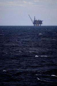 Oljeplattform i Nordsjön
