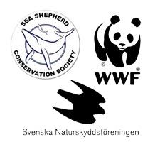 Sea Shepherd, WWF och Naturskyddsföreningen